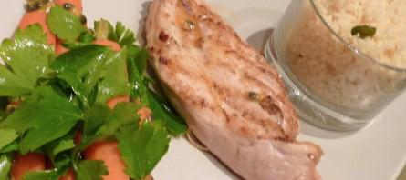 100217 Poulet grillé salade de carottes (Copier)