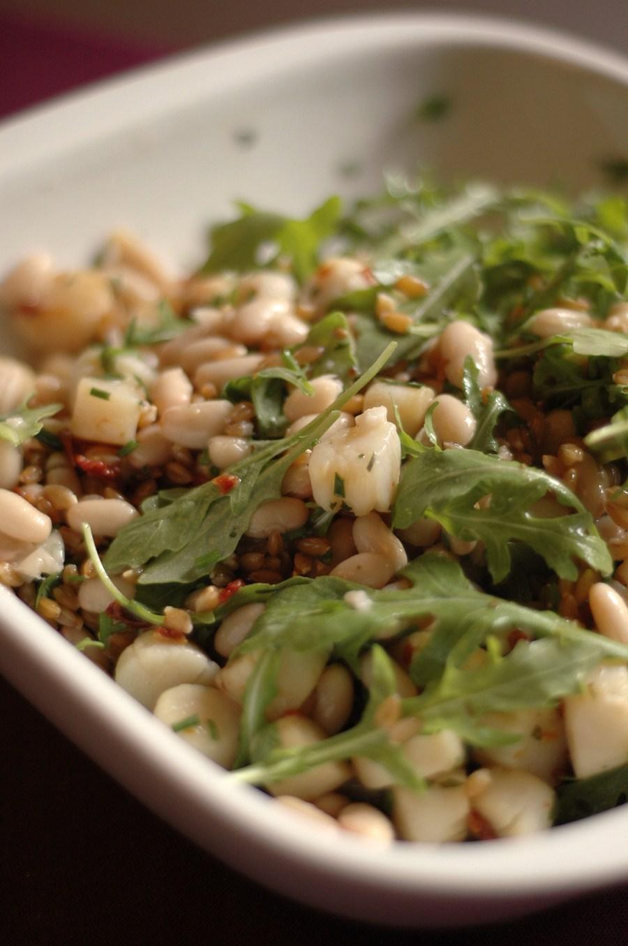 100707 salade de haricots blancs aux pétoncles (Copier)